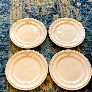 Set of 4 Juliska Acanthus Whitewash Side Plates